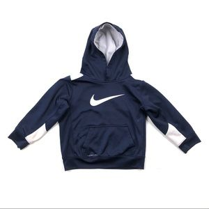 Nike navy blue white hoodie sweatshirt boy size 7
